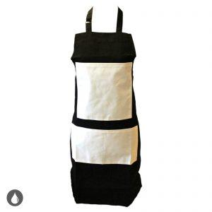DCJ05UZJ003000 - Apron - Full With White Pockets - Black